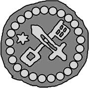 1 hohlpfennig Anonyme (épée droite; clé gauche et facé vers le bas; étoile gauche; anneau carré) – avers