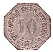 10 pfennig - Bitterfeld (Bankverein G.m.b.H) – revers