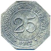 25 pfennig - Bitterfeld (Bankverein G.m.b.H) – revers