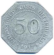 50 pfennig - Bitterfeld (Bankverein G.m.b.H) – revers