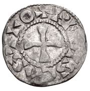 1 Denier - Thibaut III – revers