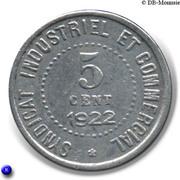 5 centimes - Chambre de Commerce - Blois [41] – revers