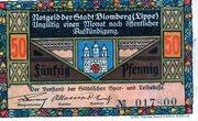 50 Pfennig (Blomberg in Lippe) – avers