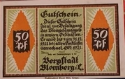 50 Pfennig  Blomberg – avers