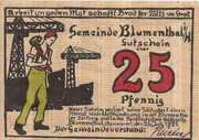 25 Pfennig (Blumenthal in Hannover) – avers