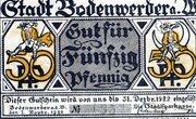 50 Pfennig (Bodenwerder) -  avers