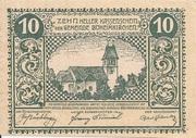 10 Heller (Böheimkirchen) – avers
