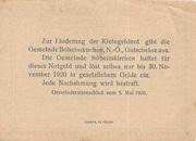 50 Heller (Böheimkirchen) – revers