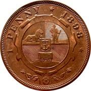 1 penny (Zuid-Afrikaansche Republiek) – revers