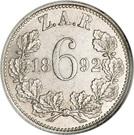 6 pence (Zuid-Afrikaansche Republiek) – revers
