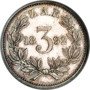 3 pence (Zuid-Afrikaansche Republiek) – revers