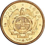 ½ pond (Zuid-Afrikaansche Republiek) – revers