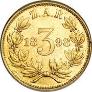 3 Pence (Zuid Afrikaansche Republiek ; Essai) – revers