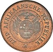2 Pence (Zuid Afrikaansche Republiek ; Essai du Transvaal) – avers