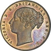 1 Penny - Victoria (Cap de Bonne-Espérance) – avers