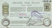 1 Pond - Postal Note - Orange Free State -  avers