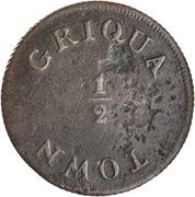 ½ 'Penny' (Griqua Town) – revers