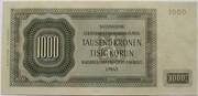 1000 Korun (2nd Issue - monochrome reverse) – revers
