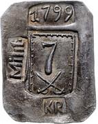 7 kreuzer Franz II (Monnaies de siège Týn nad Vltavou) – avers