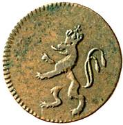 1 pfennig Francois I (Prague) – avers