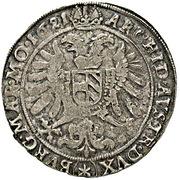 ½ Thaler - 75 Kipper Kreuzer - Ferdinand II (Kuttenberg) – revers