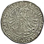 ½ Thaler - 75 Kipper Kreuzer - Ferdinand II (Prague) – revers