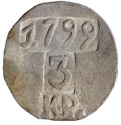 3 kreuzer Franz II (monnaie de siège Týn nad Vltavou) – avers