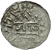 denier Boleslaus I le Cruel (duc 935–967/972) – revers