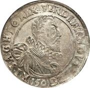1 thaler - 150 kipper kreuzer Ferdinand II (Prague) – avers