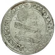 ½ Thaler - 60 Kipper Kreuzer - Ferdinand II (Olmutz) – avers