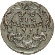 1 Kreuzer - Maria Theresia (Prague) – revers