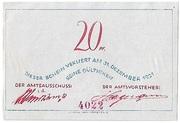20 Pfennig (Bokel bei Pinneberg) – revers