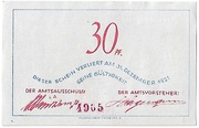 30 Pfennig (Bokel bei Pinneberg) – revers