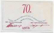 70 Pfennig (Bokel bei Pinneberg) – revers