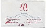 80 Pfennig – revers