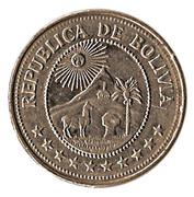 5 pesos bolivianos -  avers