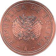 10 centavos (acier plaqué cuivre - type 2) -  avers