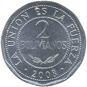 2 bolivianos (grand module) -  revers