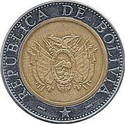 5 bolivianos -  avers