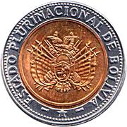5 bolivianos (Estado Plurinacional de Bolivia) -  avers