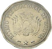 2 bolivianos (Estado Plurinacional de Bolivia) -  avers