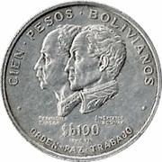 100 pesos Bolivianos (Indépendance) – revers