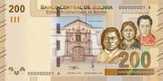 200 Bolivianos (Katari, Sisa & Bolívar) -  avers