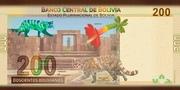 200 Bolivianos (Katari, Sisa & Bolívar) -  revers