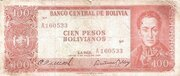100 Pesos Bolivianos (Two currencies on Back) -  avers