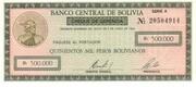 500.000 Pesos Bolivianos -  avers