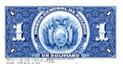 1 Boliviano – revers