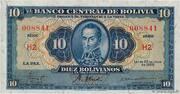 10 Bolivianos -  avers