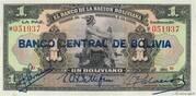 1 Boliviano – avers