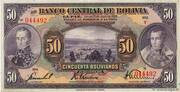 50 Bolivianos – avers